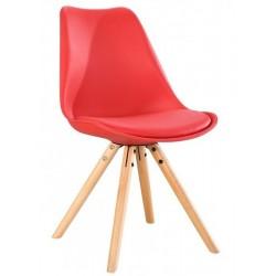 Silla TOW 4P, madera, roja,...