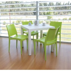 Ambiente contract. Color verde lima
