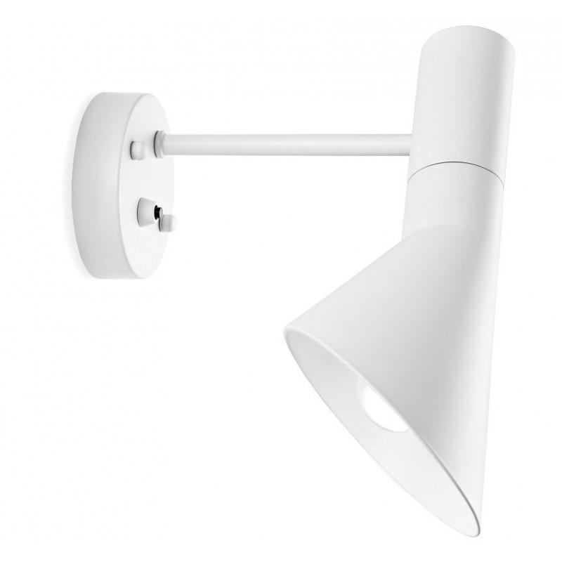 Lámpara JACOB, aplique de pared, blanca