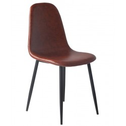 Silla RETRO BLACK, metal,...