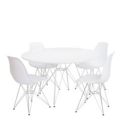 mesa y silla Tower cromadas