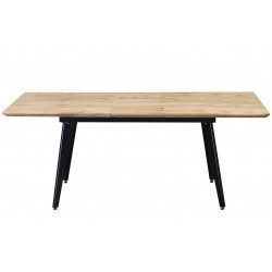 mesa con con la extensión abierta