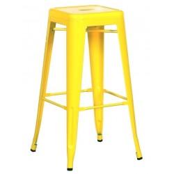 Taburete TOL, acero, amarillo