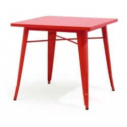 Mesa TOL, acero, roja,...